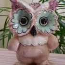 Kay Finch 1940's - 50's Ceramic Owl Figurine, Toots in Blush, Turquoise & Lavender!