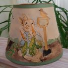 Vintage Mary Gray Lewis Handmade Artisan 3 Dimensional BUNNY Lampshade  - UNIQUE, WHIMSICAL & RARE!