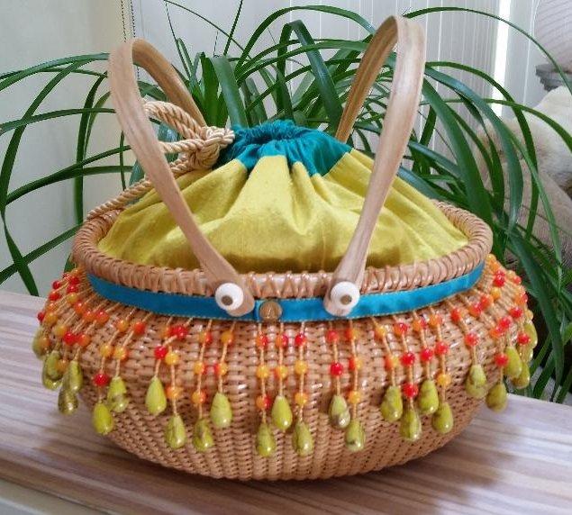 Jessica Alexander Nantucket-style Cape May Nutmeg Handbag - Perfect Summer Bag!