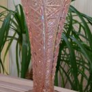 Imperial Glass Pink Carnival Cut Glass Vase - SO PRETTY!