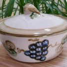 John B. Taylor Ceramics Country Baker with Grapes Casserole Dish with Lid Farmhouse Country Kitchen!