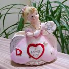 Vintage Rubens 'Keep It Under Your Hat' Valentine's Planter Hearts Gold Japan 1950's Collectible!