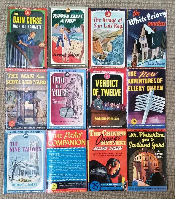Vintage POCKET BOOK Editions from the 1940's -  Lot #1 of 12 Titles!