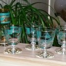Vintage Libbey Southern Comfort Steamship Glasses - 10 piece - Includes RARE JIGGER Glass!
