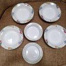 Dansk Cafe Floral Dinnerware - Shabby Chic Fruit or Cereal Bowls & Rimmed Soup Bowls!