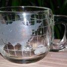 Nestle Nescafe World Globe Coffee Mug Cup - 1970's!