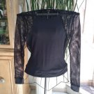 GUESS JEANS 'COUPE' Black Stretchy Fishnet Top - Size XL - GOTHIC, BIKER, COOL & SEXY!