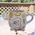 Elephant Mug Trunk Up Hand Painted Colorful Textured Mug Cup!