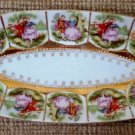 Vintage Royal Vienna Fragonard Love Story Courting Couple Celery or Olive Dish by Arnart, Japan!