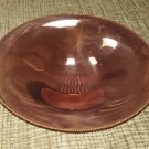 Vintage Minimalist Design 3 Footed Solid Copper Dish with Bead Trim by Trays, Inc.