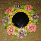 """Vintage """"FLOWER POWER"""" Metalwork Mirror - bought in Acapulco, Mexico in the 1980's - ONE OF A KIND!"""
