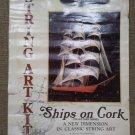 Vintage 1979 Ships On Cork Collectors Series Clipper Ship #9020 String Art Kit!