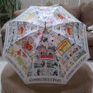 Hot Off the Press CONNECTICUT POST Comic Strip Umbrella-BLONDIE,BEETLE BAILEY & MORE!