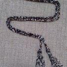 "Vintage Art Deco Long Multi Tone Seed Bead and Tassel Flapper Belt 70"" Necklace!"