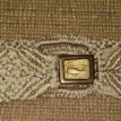 Vintage Boho Crocheted Belt with Whale Design Brass Buckle - Size XL - RARE!