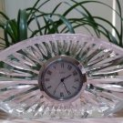 Vintage Quartz Clock - Sheridan Pattern by Waterford Crystal - Oval Shape, Platinum Face!