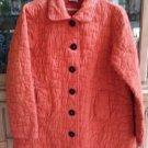 CMC 'Color Me Cotton' Autumnal Pumpkin Quilted Swing Jacket - Size L - ADORABLE!
