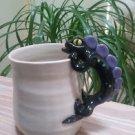 LIZARD GECKO IGUANA Hand Sculpted Pottery Coffee Tea Mug - HUGE - holds 19 ounces!