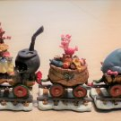 Danbury Mint Disney 'Winnie The Pooh' Train-Piglet,Eeyore,Tigger,Roo,Christopher Robin & Kanga!