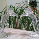 West Germany ART DECO 24% Lead Crystal Double Candelabra Set - 1940's!