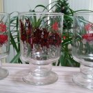 Vintage Budweiser Champion Clydesdales Horses Pedestal Beer Glass - Set of 3!
