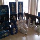 Vintage Avon Nativity Scene Collectibles 13-Piece Set Bisque Porcelain 80s-90s!