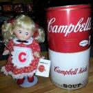 Campbell's Soup Porcelain Doll CK-1 Mothers Helper Patricia Loveless 1078/1869!