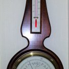 Vintage Airguide Mahogany Banjo Barometer/Thermometer/Hydrometer from 1971 with Manual!