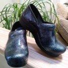 Dansko Women's 506090202 Blue Iridescent Clog - Size 37 - USA Size 6.5