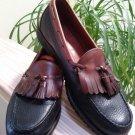 Allen Edmonds Nashua Black with Brown Trim Leather Tassel Loafer - Size 11B