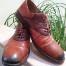 Johnston & Murphy Est 1850 Decatur Saddle Lace up Oxford Brown 2 Tone Shoes #20-6786 - Size 12W