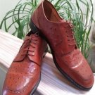 Leather Classics Ostrich Skin Lace up Oxford Shoes #600639 - Made in Italy - Size 13D