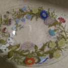 Dorothy Thorpe Floral Wildflowers Oval Tray Dish!