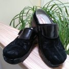 Klogs Austin Open-Back Clog in Clove-Black Suede - Size 7.5W!