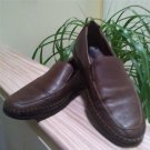 MEPHISTO Cool-Air Caoutchouc Brown Leather Loafers Driving Shoes - Size 9 1/2