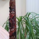 VINTAGE BOMA CANADA TOTEM POLE - NATIVE AMERICAN ARTISAN ARTWORK for your desk!