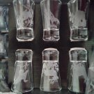 Vintage American Wildlife Etched Glass Bar Set - 18 piece!