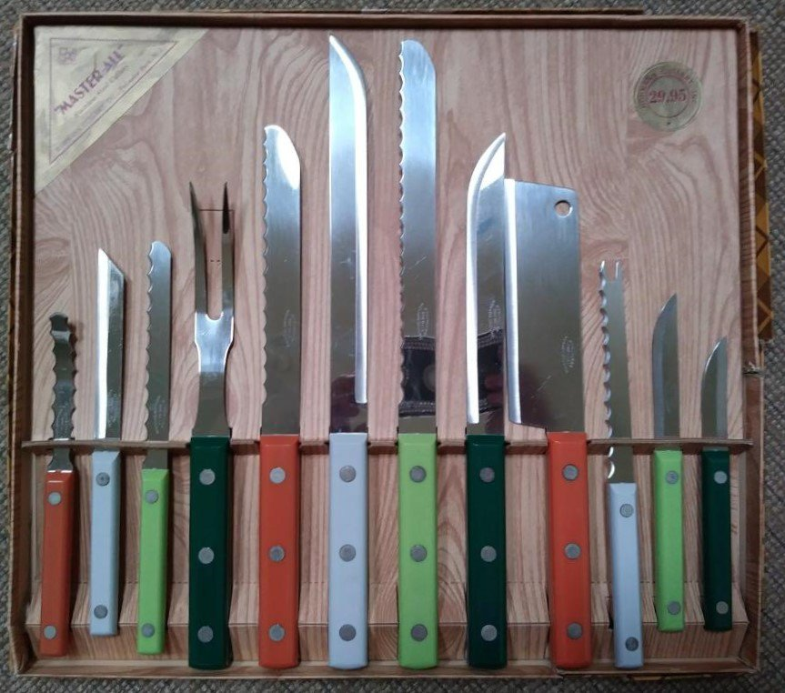 Vintage 'MASTER-ALL' Cutlery 12 Piece Set by Hohmann Cutlery Inc. - Made in USA - RARE!