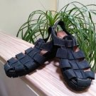Vintage Women's Mainframe Blue Suede Sandals - Size 8 - Made in Spain!