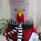 Rooster Stacking Stuffers Stacking Box Set - Hand Painted - Nest Together - New in Box!
