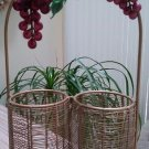 Wire Form 2 Bottle Wine Carrier Tote, Gift Wrap - Lots of Grapes!!