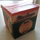VINTAGE MACGREGOR 100 D C OFFICIAL LEAGUE SOFTBALL WITH ORIGINAL BOX 1960's ERA UNOPENED!