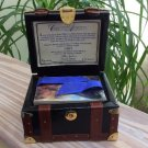 Titanic Cards In Collectible Leather Steamer Trunk White Star Line by Inkworks 1998!