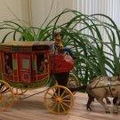 "Vintage Northwestern Stage Lines Tin Litho Horse Drawn Stagecoach Toy USA 11"""