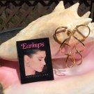 Earloops 24k Plated Earrings - Figure 8 Loop Design - 'No Pressure Just Pleasure'!