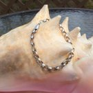 """Vintage Rolo Sterling Silver Bracelet - 7.5"""" - Made in Italy!"""