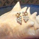 Vintage Pearl Cluster Flower Screw Back Earrings!