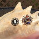 Vintage Rhinestone Brooch Pins - Lot of 2!