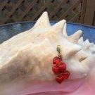 Vintage Lucite Valentine Dangling 'Cluster of Hearts' Pendant!