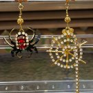 Vintage LUNCH AT THE RITZ 'Snacklet's Web' Spider Web Pierced Earrings from 1998!